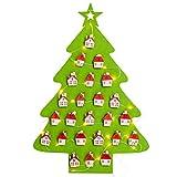 Amosfun Weihnachtsbaum Adventskalender Filz Weihnachten Countdown Kalender Weihnachtsschmuck Weihnachten Geburtstagsgeschenk für Freunde