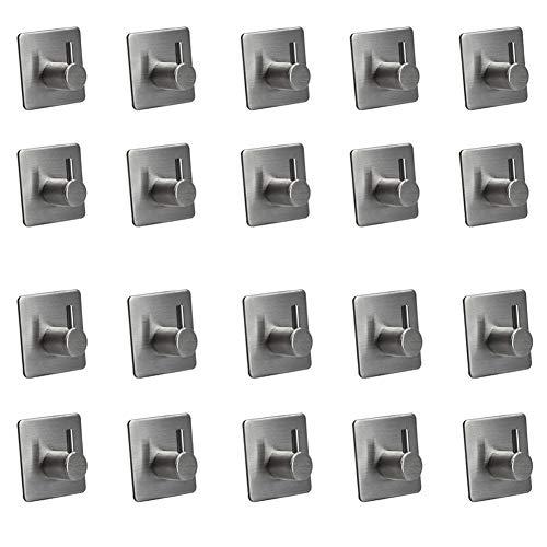 Preisvergleich Produktbild ZZTT Handtuchhaken Wandmontage-Handtuchhaken aus Edelstahl für Küche,  Bad und Büro, 20pieces