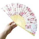 Challeng Bambus Faltbar Handfächer, Blumen Muster Spitze Fächer Silk faltender Hand-Fans, Partei Tuch Tanz Hochzeits Dekoration Heißer Verkauf (B)