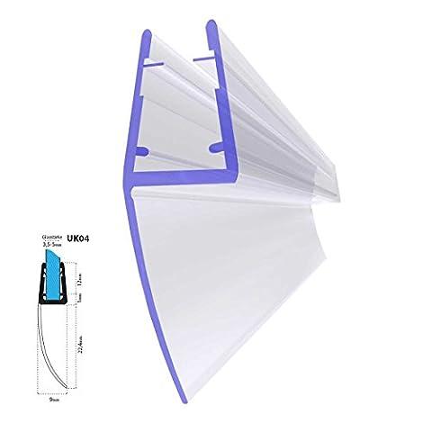 Joint d'étanchéité de rechange pour verre de douche d'épaisseur 3,5mm/ 4mm/ 5mm protection surtensions de cabine de douche - UK04 100cm