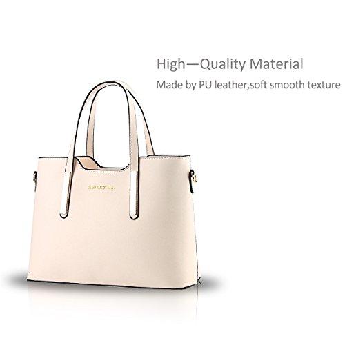 Nicole&Doris 2017 nuove donne stereotipi portafoglio borsa tracolla Messenger(Black) creamy white