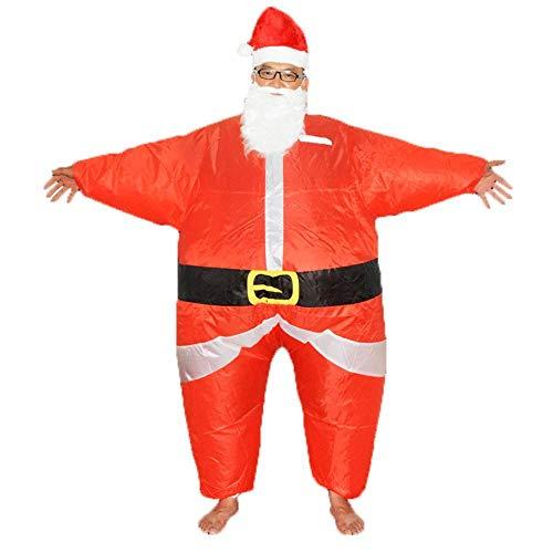 TUWEN Santa Claus Aufblasbare KostüM Weihnachten KomöDie Leistung Kleidung Aufblasbaren Anzug Erwachsene MäNner Und Frauen