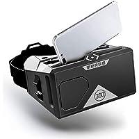 MERGE VR/AR (Edición EU) - Audífonos de Realidad Virtual y Aumentada compatibles con Android y iPhone - Lentes Ajustables, Botones de Doble Entrada, Suaves y cómodos, para niños Mayores 10 años