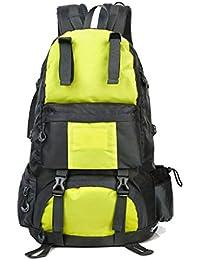 DMIZ Bolsas de Alpinismo Nylon Impermeable para Hombres y Mujeres al Aire Libre 50 l Gran Capacidad Mochila de Marco Interno Mochila para…