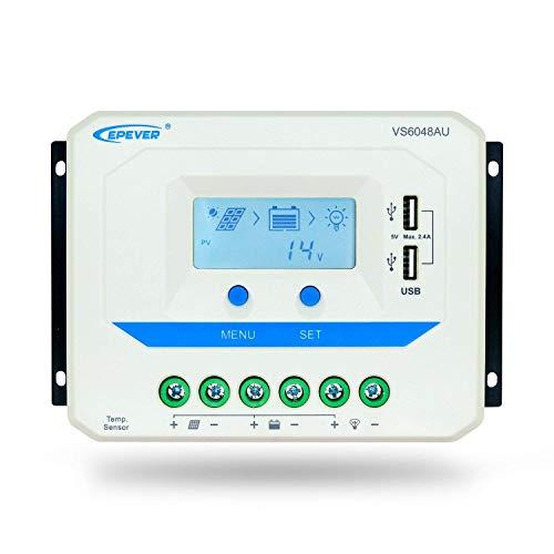 EPever VS6048AU Regulador Panel Solar Cargador Controlador