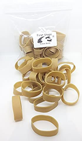 25 x Short Thick 2 inch x 1/2 inch Wide First Steps Rubber Elastic Bands 50mm x 12mm No.81