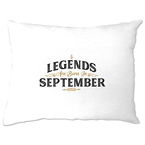 Tim And Ted Geburtstag Kissenbezuge Legenden sind geboren im September White One Size