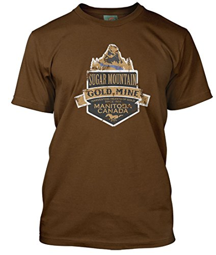 Neil Young inspired Sugar Mountain Heart of Gold T-shirt, Hommes, XX Large, Café