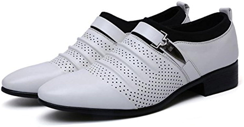 ZX Leder Oxford Schuhe Männer  Business Kausalen Schuhe Glatt PU Leder Splice Oberen Slip on Atmungsaktives MeshZX Business Kausalen PU Leder Atmungsaktives