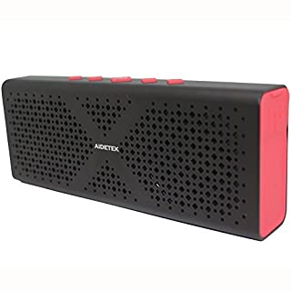 Ultra-Portable Aluminum Bluetooth Speaker Aidetek Bluetooth 4.0 Wireless speaker with 15 Hours Music Streaming Hands-Free Calling Built-in Mic, 10W Output Power with Enhanced Bass