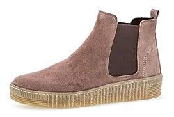 Gabor Damen Chelsea Boots 93.731,Frauen Stiefel,Halbstiefel,Stiefelette,Bootie,Schlupfstiefel,flach,Blockabsatz 1.3cm,F Weite (Normal),Dark-Rose (Natur),UK 6.5