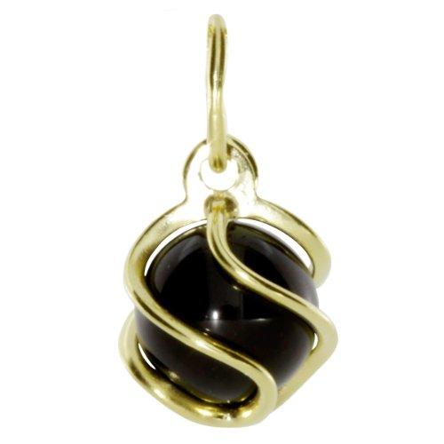 InCollections Damen-Anhänger 333/000 Gold mit Onyx 0080100013401
