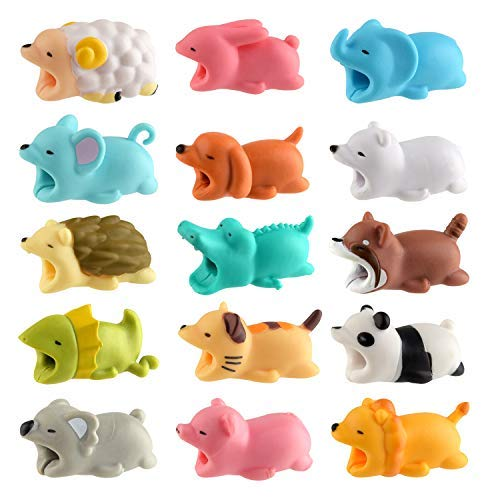 TUPARKA 15 PCS Cable Protector Cute Animals Cable