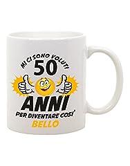 Idea Regalo - Tazza Mug in ceramica compleanno Mi ci sono voluti 50 anni per diventare così bello - eventi - idea regalo - compleanno