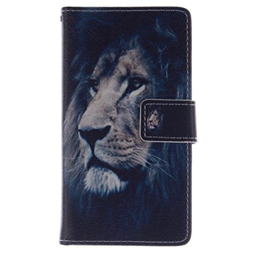 KATUMO® Slim Case Samsung S3 Neo/S3 I9300 Handyhülle Book Stil PU Leder Kickstand und Brieftasche Etui für Samsung Galaxy S3 Ledertasche Löwe