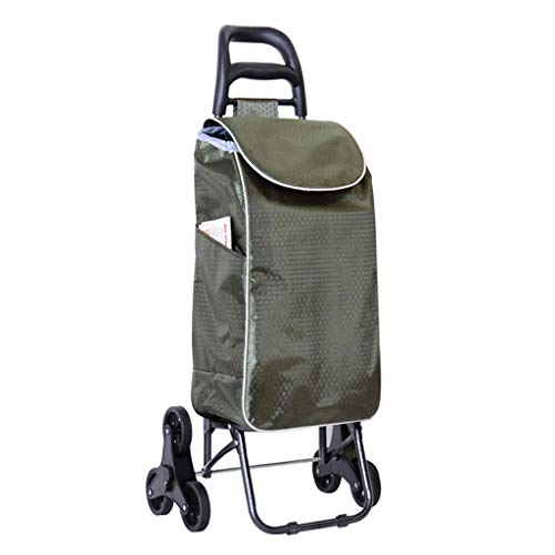 ASDFNF Trendy Zusammenklappbarer Push-Pull Carts Leichte Shopping Trolley