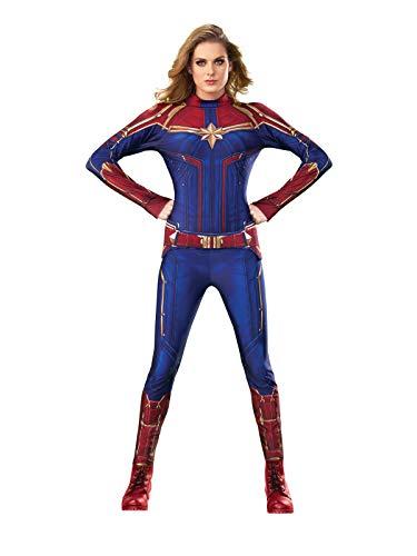 Rubie's Offizielles Captain Marvel-Kostüm für Damen (Marvel Heroes Kostüm)
