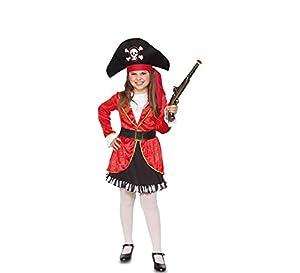 Fyasa fyasa706356-t00Pirata Disfraz de niña, Rojo/Negro, pequeño