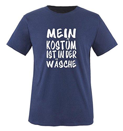 MEIN KOSTÜM IST IN DER WÄSCHE - Kinder T-Shirt Navy/Weiss 152-164