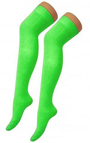 Niñas adolescentes mujeres neón calcetines lisos