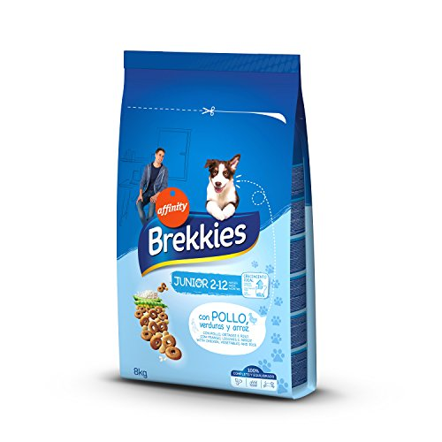 Brekkies Pienso para Perros Junior con Pollo, Verduras y Arroz - 8000...