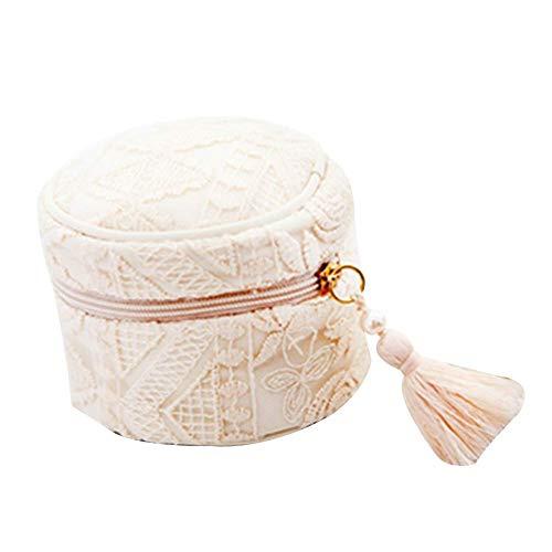 Giow Schmuckschatulle lagerung japanischen Stickerei Exquisite Spitze bilden kleine Handtasche, 2 Farben (Farbe: rosa, größe: 9,5x8 cm)