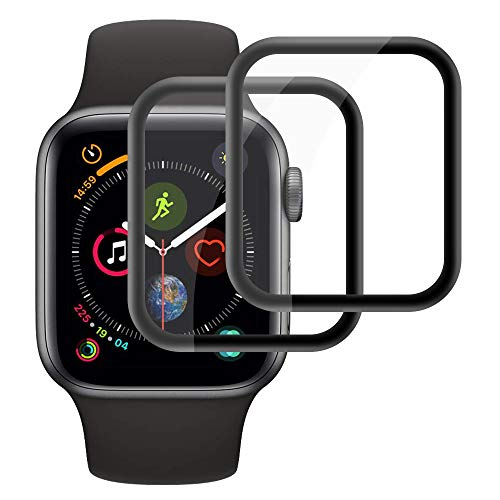 Echden Panzerglas Schutzfolie kompatibel mit Apple Watch 42mm Series 3/2/1 Bildschirmschutz 3D Full Screen Panzerglasfolie 9H Schutzglas Screen Protector Tempered Glass Sport, Edition, Nike+ 2 Pack