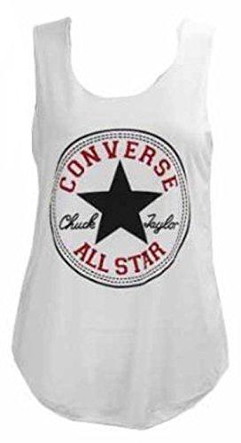 Neue Damen Frauen Mädchen Converse Star Print Lässige Weste Top T-Shirt Muscle Back Größe 36-42 sfdd
