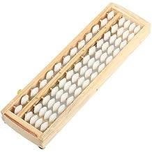 WEONE color blanco Mini marco de madera Oficina Japonesa de 13 Columna ábaco Soroban Herramienta de Cálculo