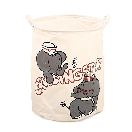 Leegoal Multifunktionale Faltbarer Wäschekorb Schmutzig Kleider Wäschesammler Aufbewahrungskorb Wasserdicht Kinder Spielzeug Aufbewahrungsbeutel 50 X 40cm(Tiere Muster)