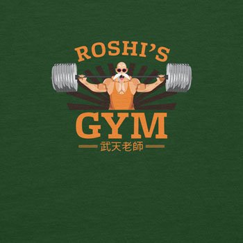 Planet Nerd Lifting Weights in Roshi´s Gym - Herren T-Shirt Flaschengrün