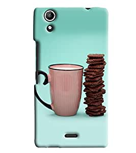 Blue Throat Cookies With Milk Hard Plastic Printed Back Cover/Case For Micromax Selfie 2
