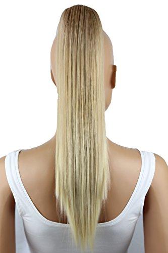 Prettyshop parrucchino, coda di cavallo, le estensioni dei capelli, resistente al calore e liscio 50 cm bionda mix # 26t613a h151
