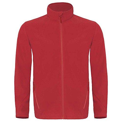B&C Mens Collection Coolstar Microfleece Jacket Deep red