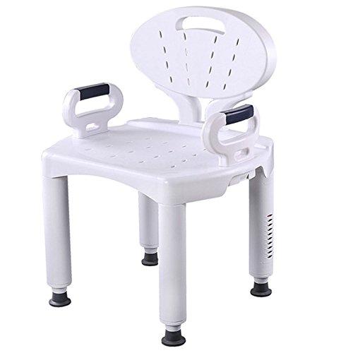 RAQ Bad Stuhl rutschfeste Hocker Haushalt ältere Bad Stuhl Kinder schwangere Frau Duschstuhl (Deluxe-aluminium-bad-bank)