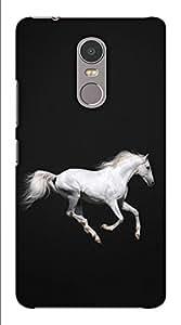 Blutec Running horse Design 3D Printed Hard Back Case Cover for Lenovo K6 Note