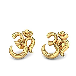Candere By Kalyan Jewellers 22k (916) Yellow Gold Aakaksha Om Earrings for Women