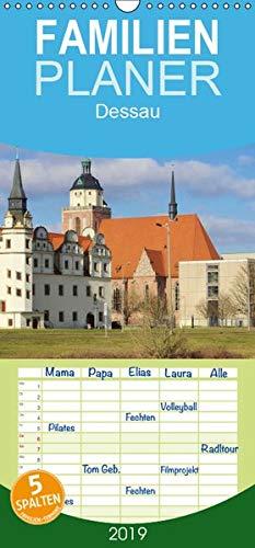 Dessau - Familienplaner hoch (Wandkalender 2019 , 21 cm x 45 cm, hoch): Dessau mit seinen Parks und...