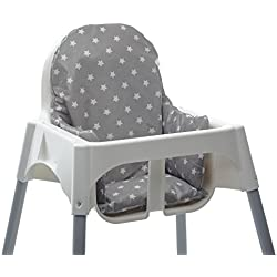 Messy Me- Cojín de asiento. Silla alta IKEA Antilop