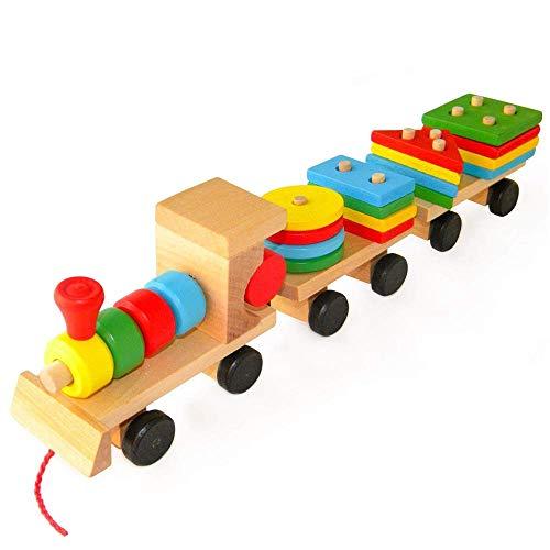 YZWJ Kinder-Holzspielzeug gestapelte Zug-Blöcke, intellektuelles pädagogisches Spielzeug der Kinder, frühes Bildungs-Spielzeug, ökologische Sicherheits-Spielwaren - Zug Pädagogische