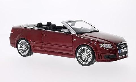 Audi RS4 Cabriolet, metallic-dunkelrot, Modellauto, Fertigmodell, Maisto 1:18