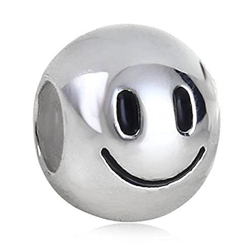 soulbead Smiley, Charm massiv 925Sterling Silber Happy Bead für im
