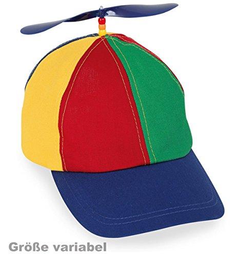 Party-Chic Basecap Propeller, verstellbar von 55 - 58 cm