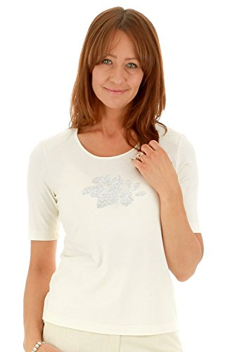 Eugen Klein - T-shirt - Femme blanc cassé ecru Crème