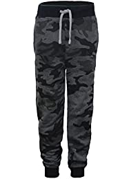 d45d8134182cf LotMart Enfants imprimé Camouflage Bas survêtement Garçon Fille Pantalon de  Jogging Pantalon survêtement et Cadeau Gratuit