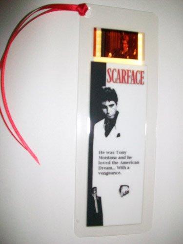 Film-Andenken SCARFACE Al Pacino, Lesezeichen, mit Filmabschnitt - Scarface Movie Memorabilia