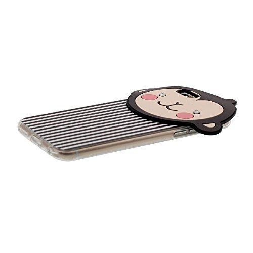iPhone 6S Coque Case Transparente Sides Anti choc Svelte & Lumiere, Flexible TPU Gel Étui Apple iPhone 6 4.7 Pouce, Origine Conception 3D Dessin animé Singe Modèle Color-2