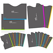 Credit Card Protector, Aerb 16-Pack RFID Blocking Sleeves for Identity Theft Protection [12 Credit Card Sleeves & 4 Passport Sleeves]
