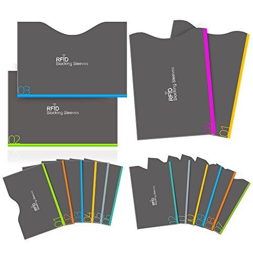 Bloqueo RFID, Aerb 16-Pack Tarjeteros para Tarjetas de...