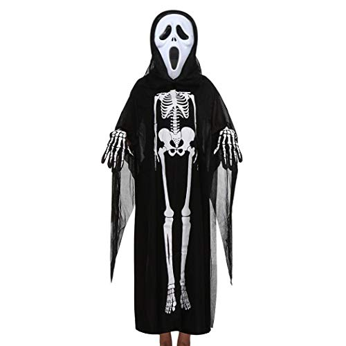 Kleinkind Jungen Mädchen Kinder Halloween Kleidung Dämon Knochendruck -